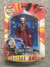 DOCTOR WHO  - SYCORAX LEADER (NEW ON CARD) Poseable Action Figure Set SERIES ONE