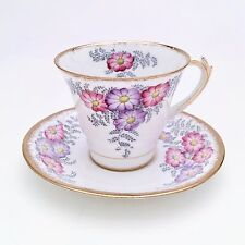 Art Deco Style Tea Cup and Saucer by Roslyn China, England, Bracken Pattern