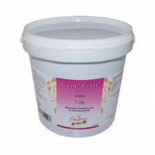 Shantys Gum Paste Professional - WEISS - 1 Kg - (Blütenpaste / Modellierpaste)
