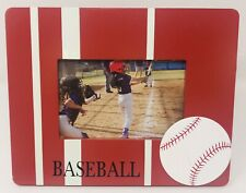 """Sports Themed Baseball Red White 6""""x4"""" Picture Frame 10"""" X 8"""" Wood NEW"""