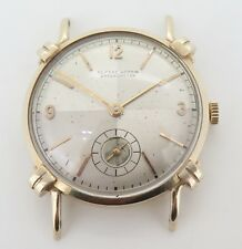 .Vintage Ulysse Nardin Chronometer 14ct Gold Slim Mens Wrist Watch