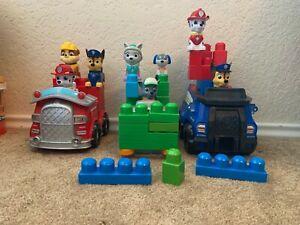 PAW PATROL Mega Stacking Blocks Figure  Rocky, Robo, Everest Preschool Toy