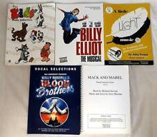 Job Lot: 5x Piano Music Sheet Music Books Inc Billy Elliot Blood Brothers Kids..