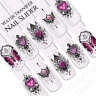Sunset Tribal Gems Flower Butterfly Nail Water Transfer Decal Sticker Art Slider