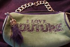 Juicy Couture I love Couture Barrel Bag Heavy Gold Chain w/ Purple Rabbits Foot