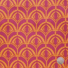Anna Maria Horner Drawing Room Plume Raspberry Cotton Fabric by the Yard