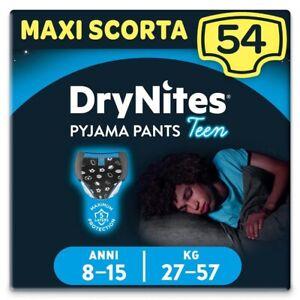 Huggies Drynites Mutandine per Bambino 8-15 anni Maxi Confezione da 54 Mutandine