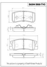 ProMaster MD868 Disc Brake Pad-Semi-Metallic Rear Brake Pads
