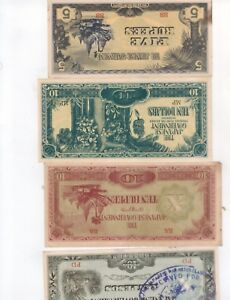 Japanese Invasion Money Rare..,Lot WWII