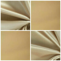 5 Metres Cotton Sateen Cream Curtain Lining Fabric  £9.99