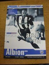 19/08/2000 West Bromwich Albion V Bolton Wanderers (no difetti GRAVI indicato)