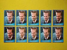 DAVID BECKHAM England Manchester United Lot x10 Football Soccer Sticker #69 MINT