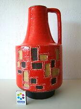 Scheurich 217 Bodenvase Vase Pop 60-70er Keramik pottery 40 cm Fat Lava Roth Bay