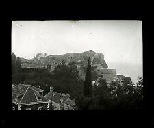 Croatie c. 1900 - RAGUSE Fortifications vues de l'Hôtel - Verre Positif - 64