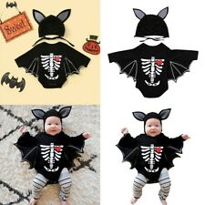 Newborn Baby Boys Girls Halloween Cosplay Costume Romper Bodysuit+Hat Outfits
