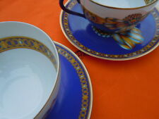 Hermès Paris Cocarde de soie tasses porcelaine Authentique Hermes