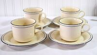 Lenox Chinastone Blue Pinstripes Four Sets cups & saucers For the Blue Patterns