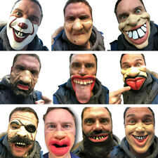Funny People Half Face Comedy Mask Stag Hen Party Latex Masks Masquerade Laughs