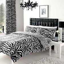 Zebra & Leopardo Stampa Reversibile Set Copripiumino Doppio NUOVO 2 in 1