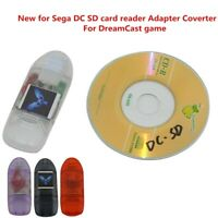 SD Card Reader w/ Indicator Adapter Converter For Sega DC DreamCast game GW