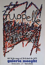 RIOPELLE JEAN PAUL AFFICHE SIGNÉE 1975 GALERIE MAEGHT SIGNED POSTER