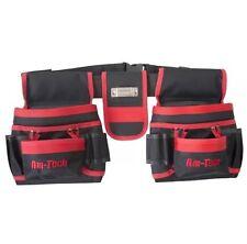 Herramienta de doble cinturón y bolsa para clavos 20 bolsillos con cinta de medir y 2 martillo titular Nuevo