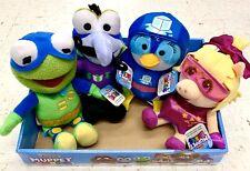 DISNEY MUPPET BABIES Plush Super Kermit Miss Piggy Summer Penguin Gonzo Set 4