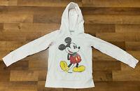 Disneyland Resort Mickey Mouse Pullover Sweatshirt Hoodie Women's MEDIUM M White