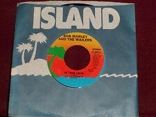 "BOB MARLEY & THE WAILERS ""Is This Love"" Island IS-099"