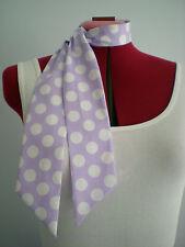 Rock n Roll/Rockabilly Neck Scarf/ Hair Tie. Lilac/White Spots