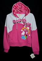South Pole Pink & White Hooded Sweatshirt Jacket with Rainbow Junior Sz XL NWT