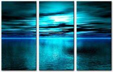 3 Panel Total 90x50cm Large ABSTRACT GICLEE DIGITAL ART PRINT TOBIN 3 Blue