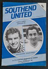 SIGNED Southend Utd Austria Memphis Ossie Ardiles Graham Roberts Trevor Brooking