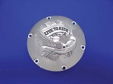 Eagle Live to Ride Spirit Derby Cover Chrome for Harley Sportster XL 2004-UP