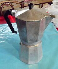 Ancienne cafetière 6 à 9 tasses vintage Octogonal café arabica filtre Italienne