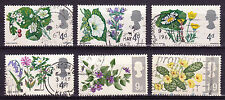 Pre-Decimal Flowers Used Great Britain Elizabeth II Stamps