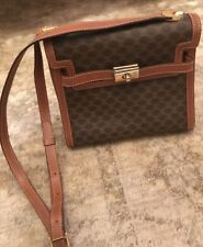 VINTAGE CELINE Brown Bag #rare stile con Kelly tipo DETAIL # CELINE