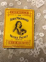 Antique Needle Packet Vintage Flora MacDonald Packet 18/22 Chenille Abel Morrall