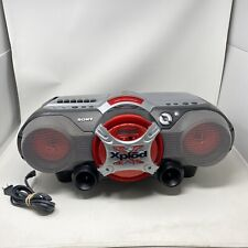 Sony CFD-G505 Xplod Bass Boombox - CD, Cassette Tape, Stereo AM/FM Radio Red