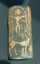 Fine Ancient Sasanian Carved intaglio Persian Bead - Rare Bead & Museum Quality
