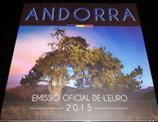 Andorre 2015 - Set Euro Complet (8 pièces) - Tirage Limité - 1 Cent à 2€ - Rare