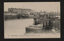 s3162) EARLY POSTCARD OF THE LONDON & PARIS HOTEL & DOCKS NEWHAVEN FRANCE