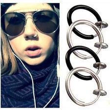 Hoop Rings Earrings Body Piercing 2 colors Lot50pcs Punk Clip On Fake Nose Lip