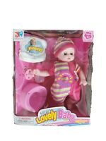 """12"""" Lifelike Large Size Soft Bodied Chubby Baby Doll Girls Boys Toy With Sounds"""