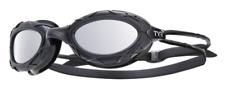 TYR Nest Pro Titanium Black Swimming Training Goggles Mirrored Metalized New Box