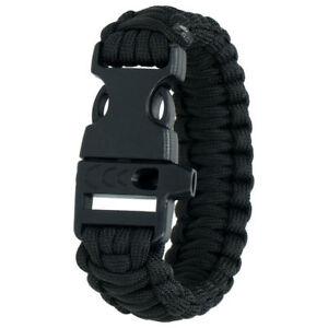 HIGHLANDER PARACORD BRACELET - SURVIVAL/CAMPING/EMERGENCY BRACELET  BLACK COLOUR