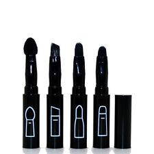 Black Mini Cosmetic Brush Makeup Brush Eyebrow Brush Lip Brush 4in1 Folding