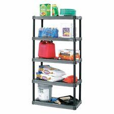 "Plano Molding 961805 Plastic Shelving Unit, 18""D X 36""W X 73-3/4""H, 5 Shelves,"