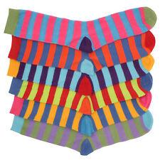 6 X Mens Bright Summer Colour Stripe Striped Ankle Suit Socks