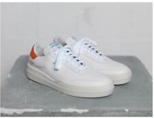 Article no. 0517-1101 White Orange Leather Sneakers Size 43 Us10